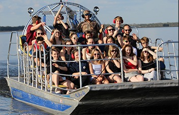 See wildlife and ride an airboat at Black Hammock Adventures