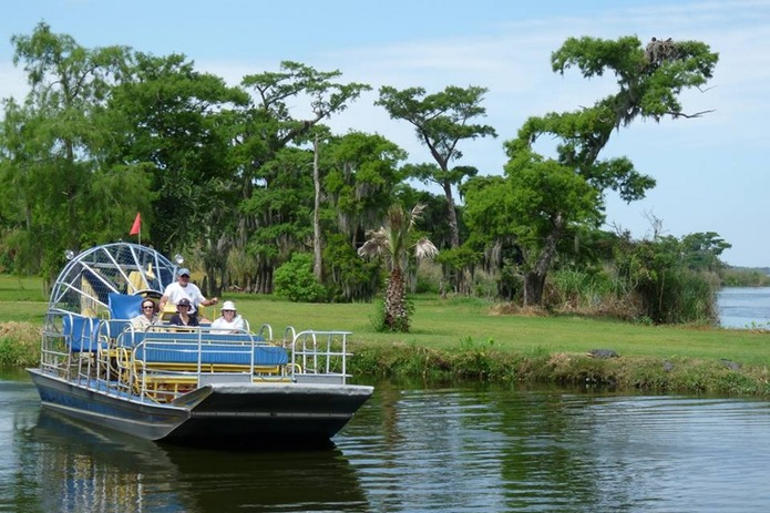 Airboat leaving the dock